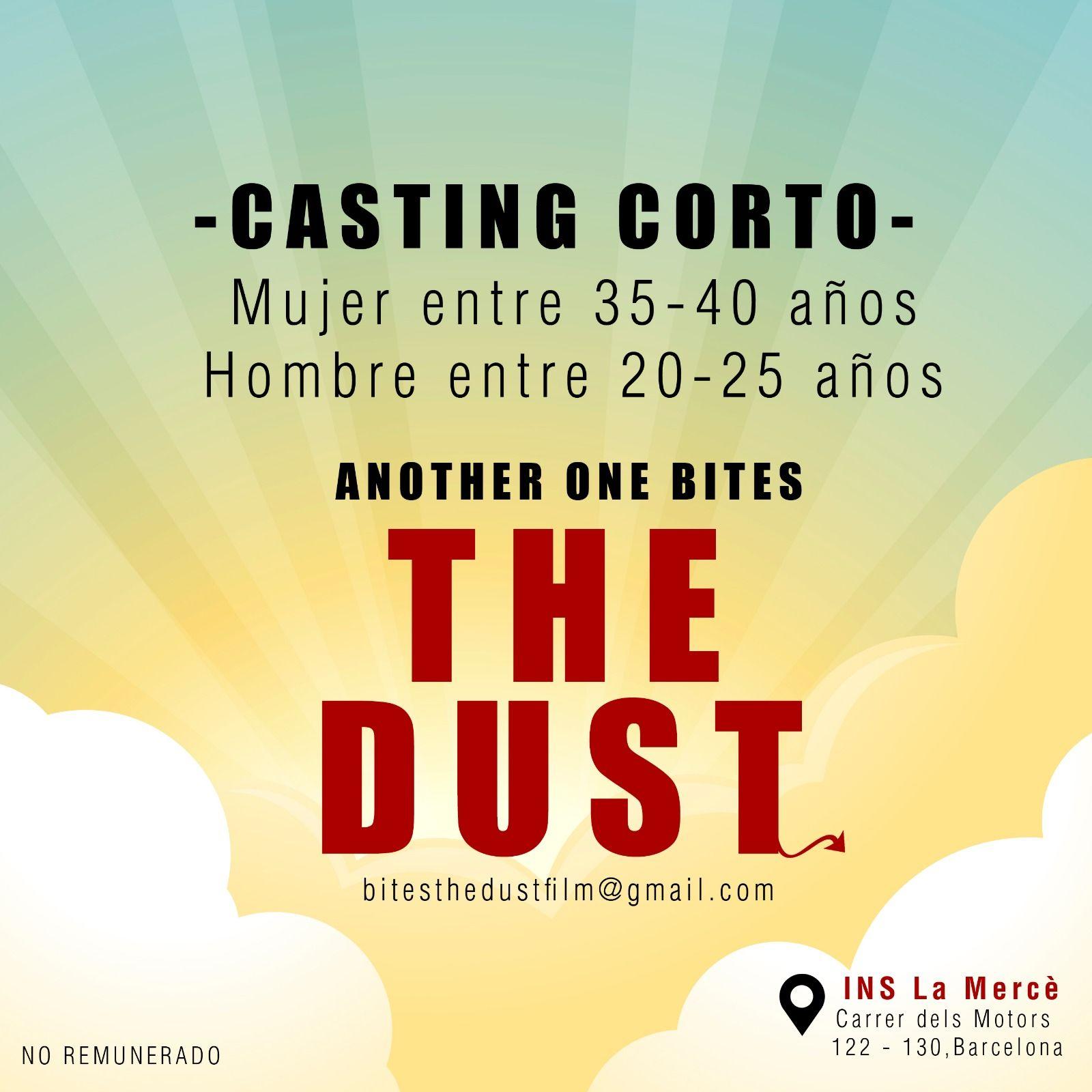"""Actor 20 a 25 y actriz 35 a 40 años para Corto""""another one bites the dust"""" en Barcelona"""