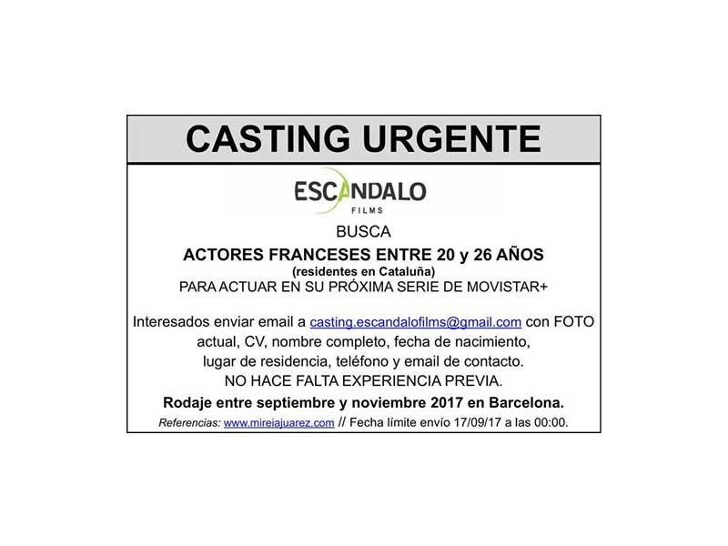 Actores franceses 20-26 años para Serie de Movistar+