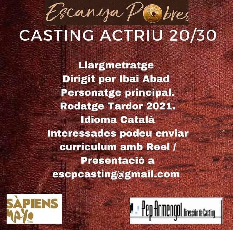 Actriu de 20 a 30 anys amb català per protagonista a LLargmetratge a BCN
