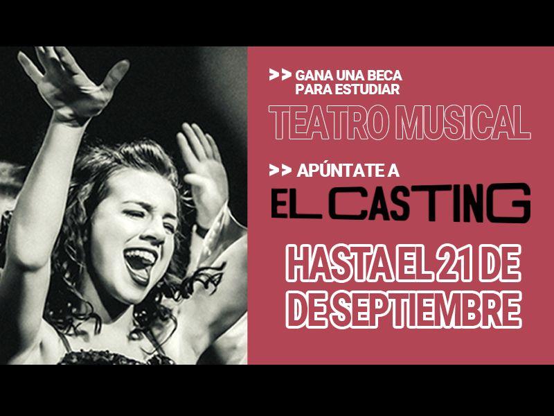 BECA EN TEATRO MUSICAL en el Centro Universitario de Artes TAI en Madrid