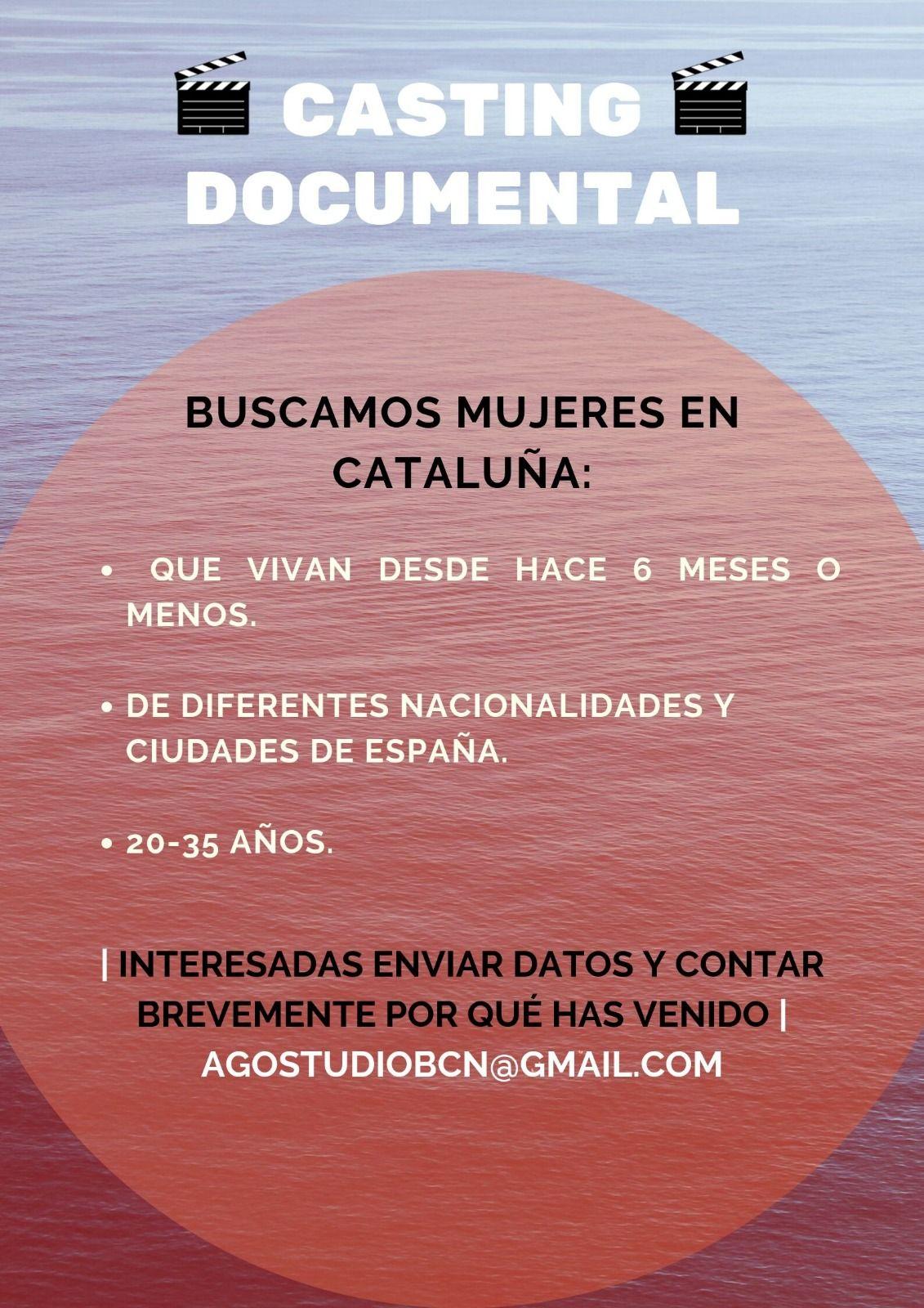 Muejeres de 20 a 35 años para rodar Documental en Cataluña