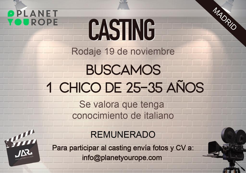 Actor 25 a 35 años para Piloto Serie Web en Madrid