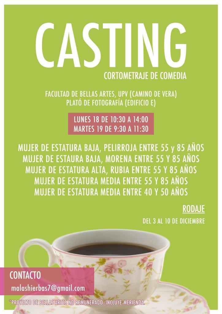 Actores/actrices de 40 a 85 años para Cortometraje «Malas Hierbas» en Valencia