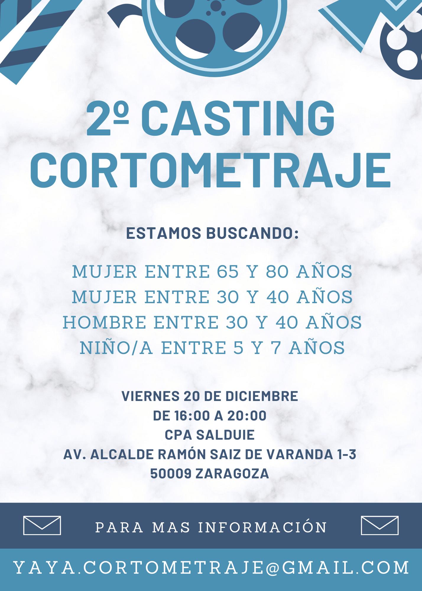 Actores y actrices de 5 a 80 años  para CORTOMETRAJE «YAYA» en Zaragoza