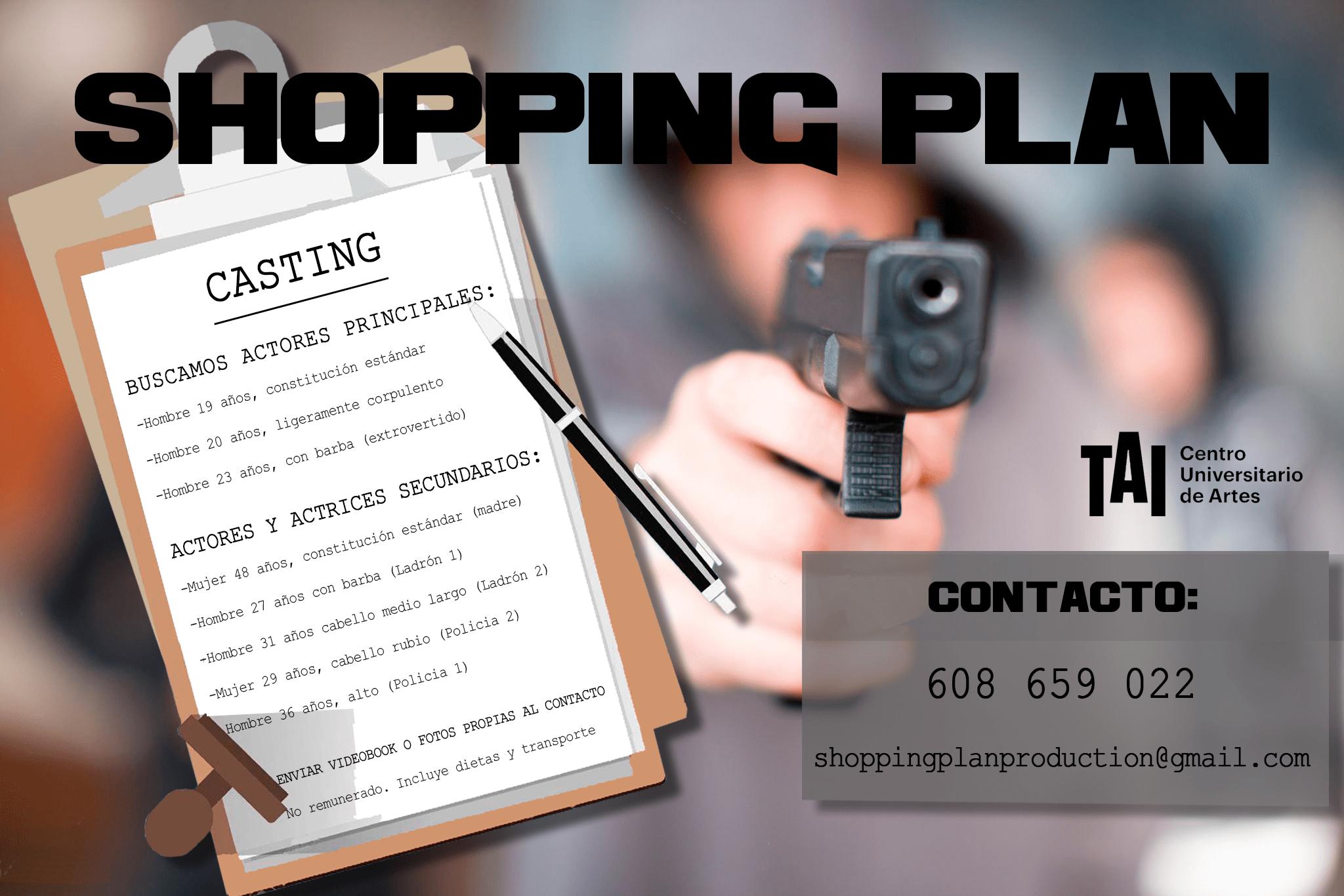 Varios perfiles de 19 a 48 años para Cortometraje «Shopping plan» en Madrid