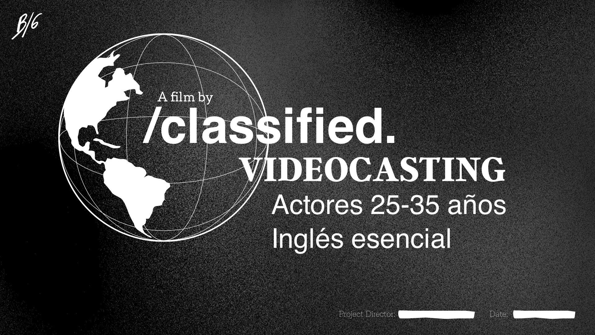 Actores de 25 a 35 años para CORTO PROMOCIONAL en Madrid