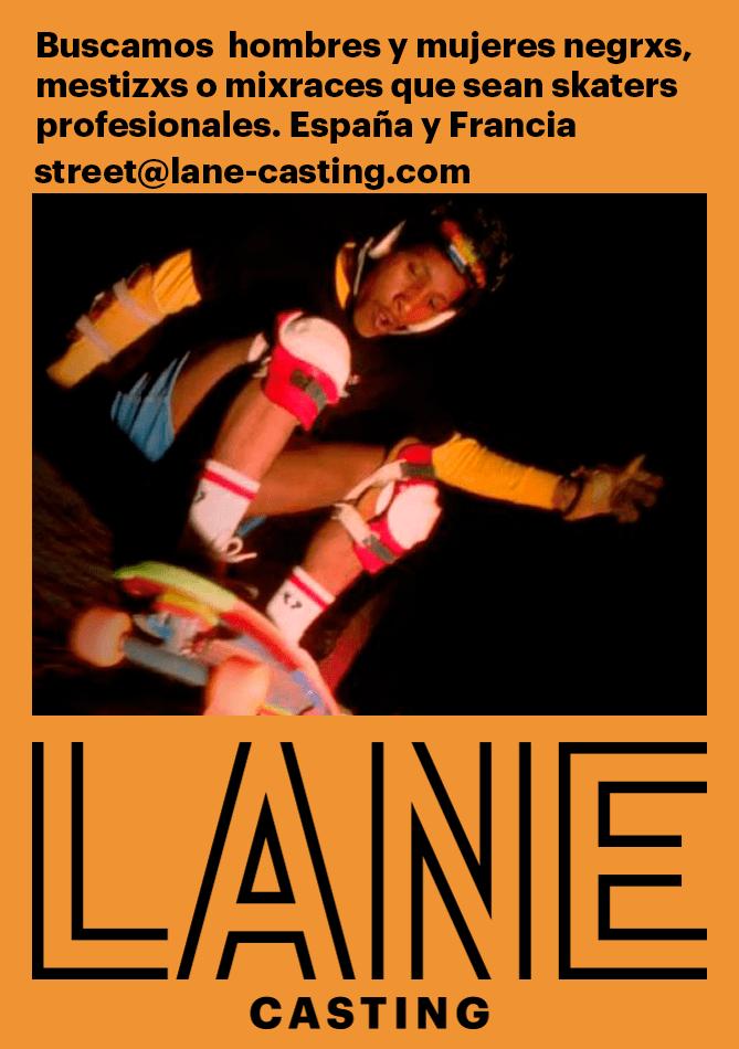 Buscamos hombres y mujeres negrxs, mestizxs o mixraces que sean skaters profesionales. Búsqueda en España y Francia // Rodaje en Barcelona