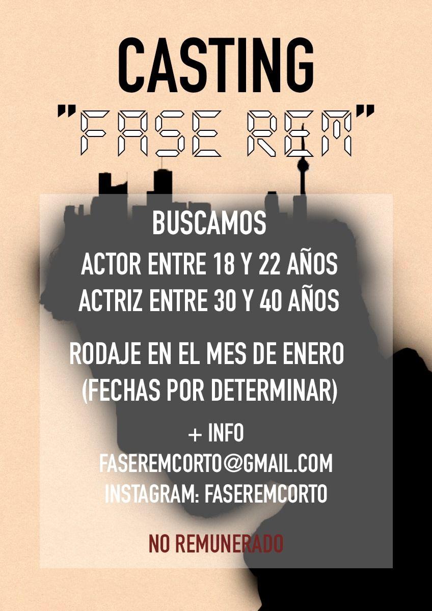 Mujeres de 30 a 40 años delgadas para Cortometraje «Fase Rem» en Madrid