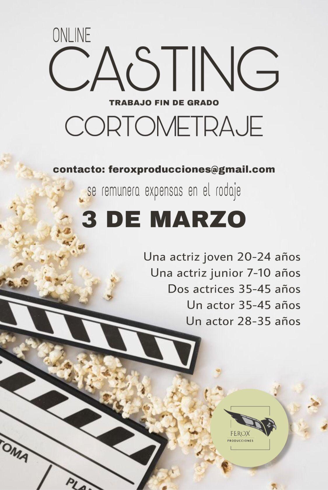 Actor de 28 a 35 años para TRABAJO DE FIN DE GRADO en Madrid