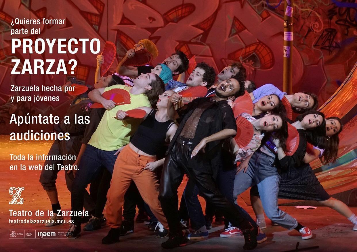 Actores y actrices de 18 a 30 años para proyecto del Teatro de la Zarzuela en Madrid