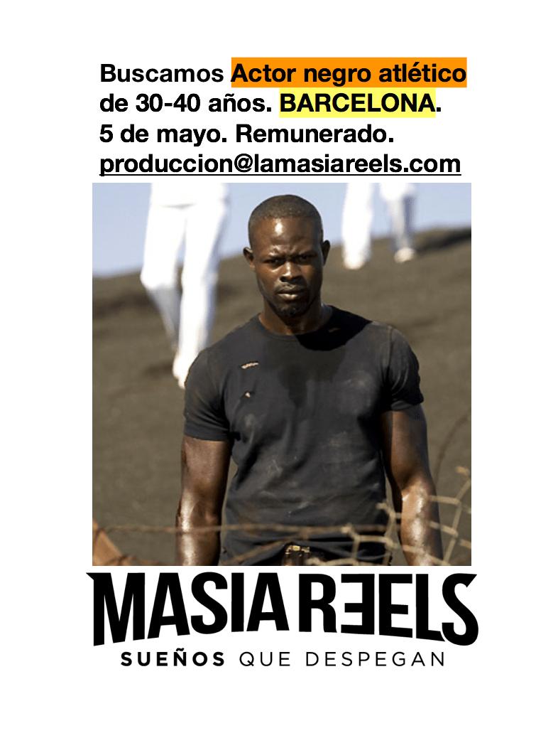 Actores de raza negra de 28 a 40 años para rodaje con La Masia Reels en BCN