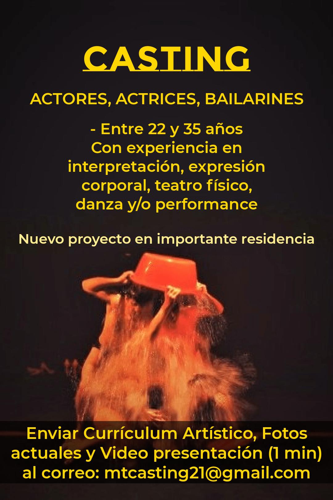 Compañía teatro perfomance abre convocatoria para importante residencia artística en BCN