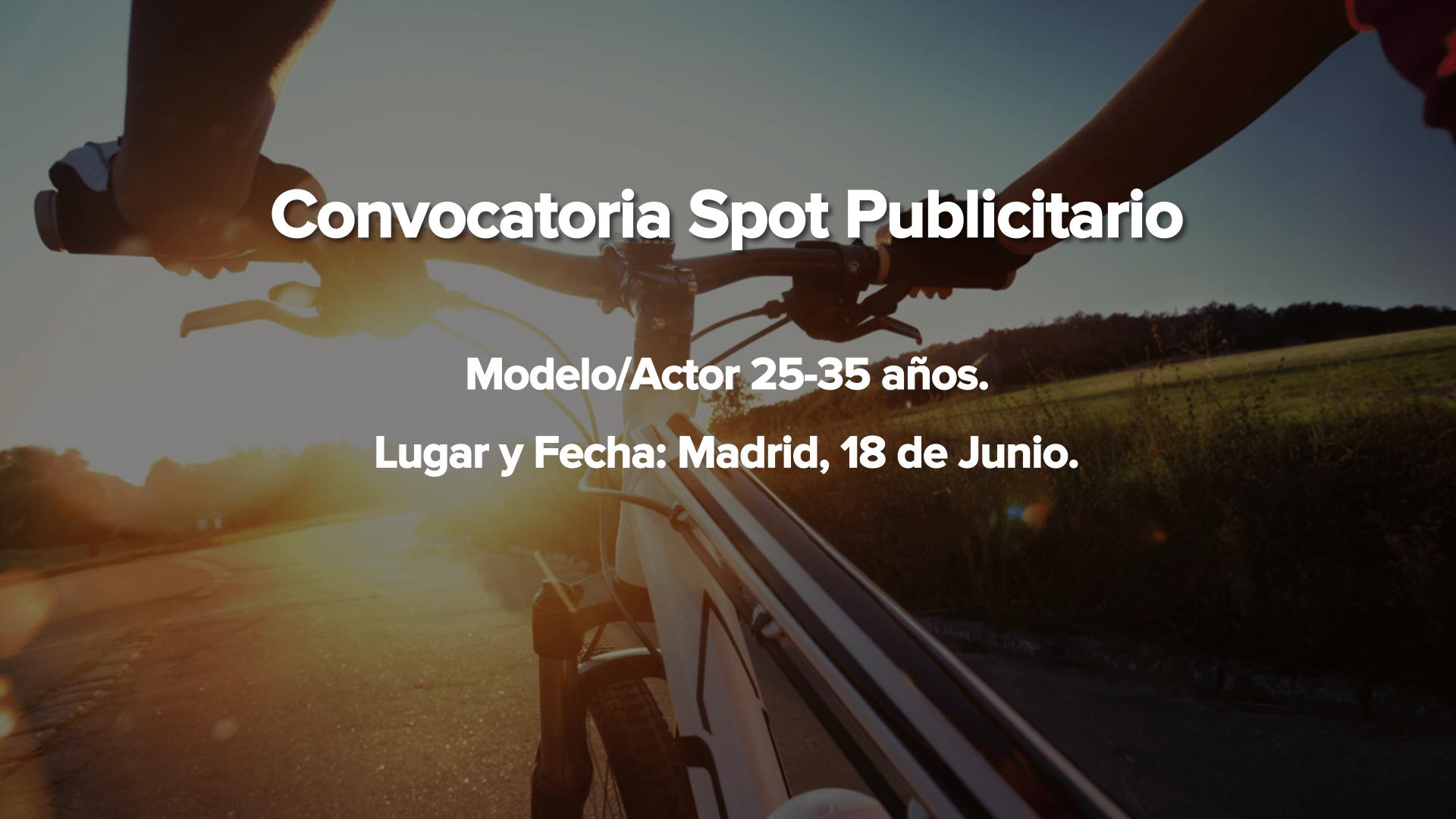 Actor/modelo atlético de 25 a 35 años para SPOT Publicitario en Madrid