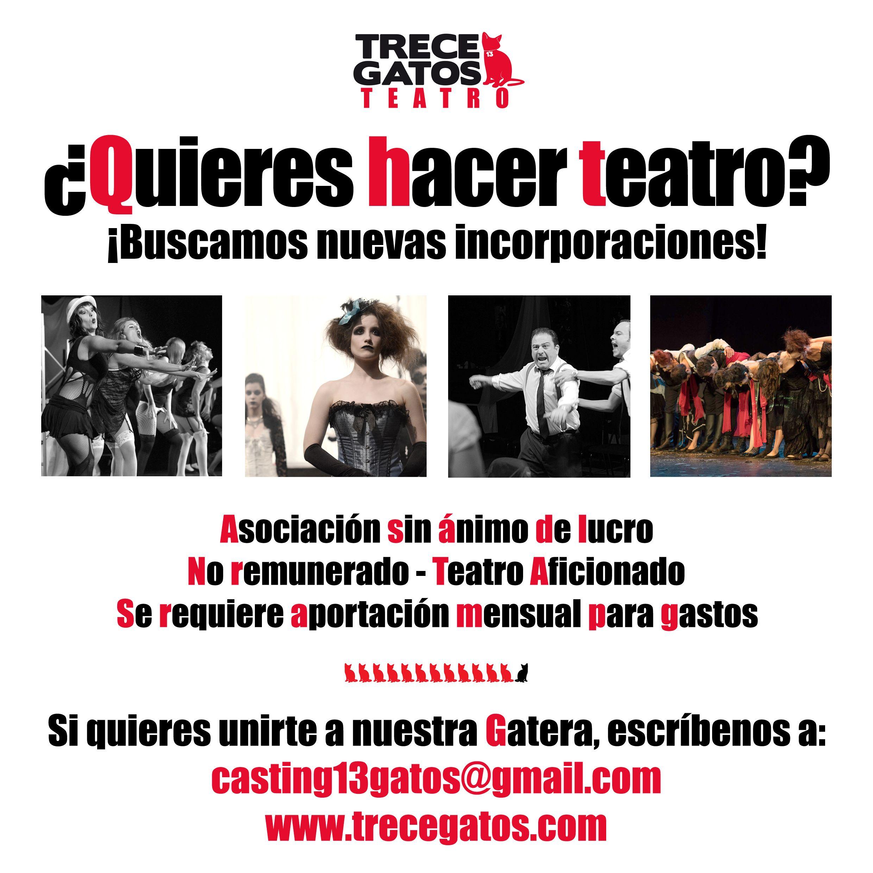 Actriz joven para Teatro Aficionado Madrid